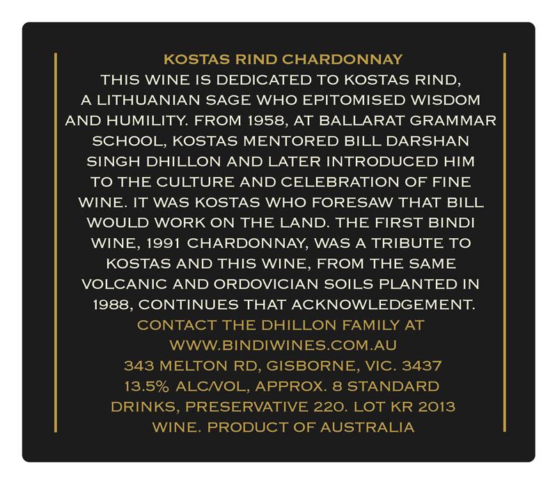 BINDI Kostas Rind Chardonnay